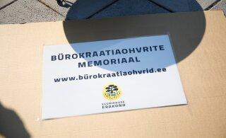 FOTOD | Elurikkuse erakond avas bürokraatiaohvrite memoriaali