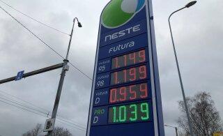 Kütusehinnad langesid vähemalt 8 senti liitrilt