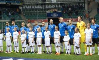 OTSEBLOGI | Eesti koondise algkoosseis mänguks Gibraltariga: Aksalu väravas, Sappinen ründes, väljakul ka Kruglov ja Vassiljev
