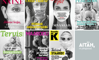 ФОТО | Эстонские журналы выпустили черно-белые обложки в поддержку врачей