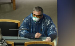 ФОТО | Многие депутаты Рийгикогу ходят на заседания в масках