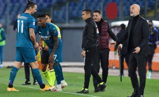 Milan naasis võidureele, Ibrahimovic sai vigastada