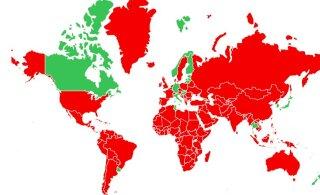 КАРТА | Смотрите, прибыв из каких стран, нужно соблюдать карантин или делать тест на коронавирус