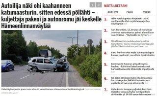 Гнал как сумасшедший: эстонский внедорожник снес в Хельсинки автобусную остановку