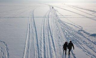 В Лыунаской префектуре на лед Чудского озера можно выезжать на легком транспортном средстве
