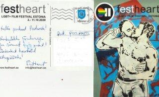 """""""Извращенцы потеряли всякое чувство меры!"""" Организатор ЛГБТ-кинофестиваля прислал членам EKRE открытку с целующимися мужчинами"""