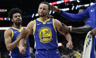 VIDEO | Stephen Curry sai hakkama hooaja kõige kaugema täpse viskega, ent Warriors kaotas suure mängu