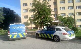 ФОТО С МЕСТА ПРОИСШЕСТВИЯ | В Ласнамяэ мужчина выпал из окна и погиб