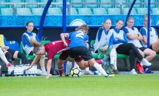 Eesti jalgpallinaiskond kaotas tugevale Venemaale