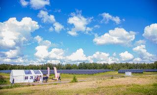 ФОТО | Крупнейший в Эстонии комплекс солнечных электростанций начал работу в Пярну