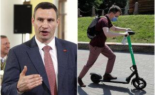 Kiievi linnapea Klitško: Bolti tõukerattad on ebaseaduslikud. Viige need minema või teeme seda meie