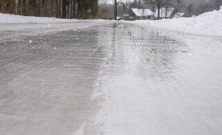 Sõida ettevaatlikult! Maanteeamet: sõiduteed on täna mitmel pool libedad