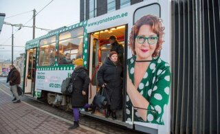 FOTO | Europarlamendi liberaalide fraktsioon hakkab Tallinna trammil Yana Toomi promoma