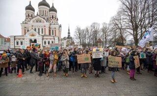 ВИДЕО: Школьники Эстонии снова требуют от правительства более активной борьбы с изменениями климата