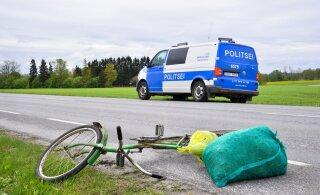 Kõigis kolmes eilses liiklusõnnetuses osales jalgrattur. Ühelgi polnud kiivrit