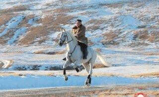 ФОТО | Ким Чен Ын поднялся на священную гору на белом коне