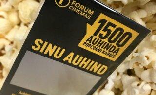 Forum Cinemas peitis popkorni sisse 1500 kingitust!