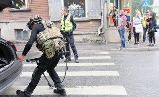 ФОТО: В Пельгулинне мужчина отказался идти в больницу и угрожал полицейским оружием