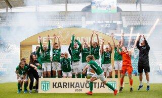 FOTOD | Flora purustas naiste karikasarja finaalis Tallinna Kalevi kuue väravaga