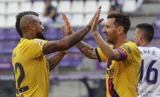 Napi võidu saanud Barcelona jäi La Ligas veel ellu