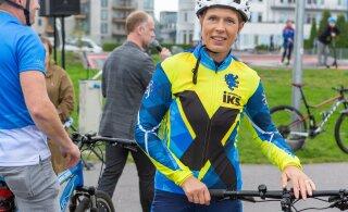 Керсти Кальюлайд проехала 89 километров на велосипеде