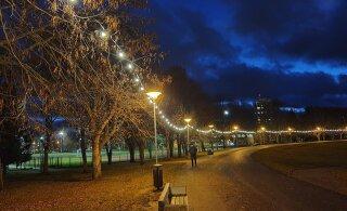 ФОТО | На пруду Ыйсмяэ зажглись праздничные огни. В Хааберсти планируется еще больше рождественского освещения