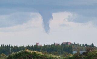 В Эстонии возникла большая опасность появления торнадо