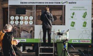 FOTOD | Lätlased plaanivad Eestisse tuua jäätmeid automaatselt tuvastava ja sorteeriva pakendiautomaadi