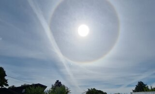 FOTOD | Päikese ümber on täna näha helendavat halo