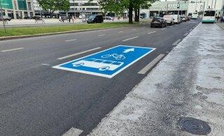 ФОТО | Таллинн разрешает велосипедистам использовать полосу общественного транспорта