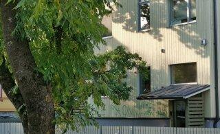 ФОТО читателя Delfi: Вандалы изуродовали дом в Кадриорге