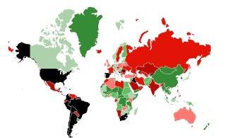 ИНТЕРАКТИВНАЯ КАРТА | Приезжающим в Эстонию из Греции и Великобритании угрожает режим самоизоляции