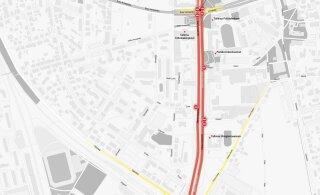 ГРАФИК | Смотрите, где и как ограничат движение на Пярнуском шоссе из-за съемок фильма Нолана