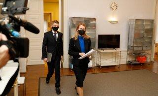 ФОТО | Правительство Каи Каллас собралось на первое заседание кабинета министров. На повестке — коронавирусные ограничения