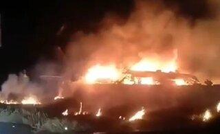 ВИДЕО: Под Харьковом разбился военный самолет