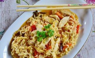 Здоровый и вкусный ужин всего за несколько минут — вок с курицей и овощами