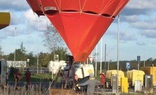 ВИДЕО | Не каждый день такое увидишь: на заправке Olerex заправляли топливом воздушный шар