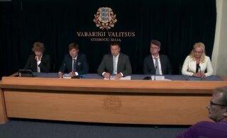 VIDEO | Martin Helme keeldus valitsuse pressikonverentsil Delfi küsimusele vastamast. Peaminister seda ei kommenteerinud