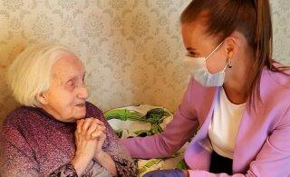 Старейшая жительница столичного Кесклинна празднует юбилей