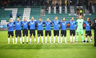 India kerkis FIFA jalgpalli edetabelis Eestist mööda