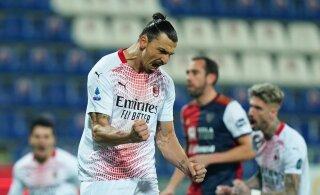 Klavanita mänginud Cagliari kaotas Ibrahimovici väravatest Milanile