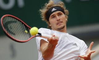 US Openi finalist pidi Prantsuse lahtiste teises ringis vaeva nägema neli tundi