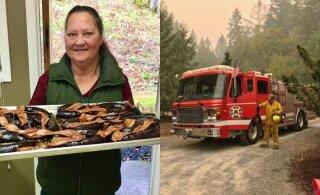 ФОТО | Дом проживающей в США эстонки сгорел в лесном пожаре. Местные эстонцы собрали для нее деньги