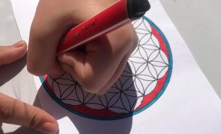 Молодежь приглашают в четверг в столичный парк Лёвенру на раскраску мандалы