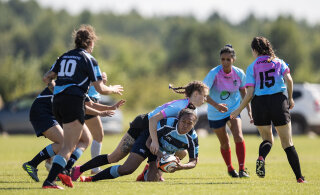 Эстонские регбистки сыграли с женской командой НАТО