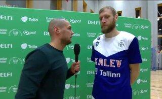 DELFI VIDEO | Tallinna Kalevi mängumees: meil peab tulema tahtmise pealt, hooaja algus on üle kivide ja kändude läinud