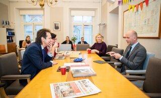 ФОТО: Ратас может засекретить отчет по делу министра Ярвика? Соцдемы встретились с главой спецкомисси по расследованию казуса