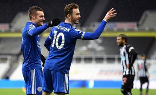 Leicester City lükkas Liverpooli kolmandale kohale
