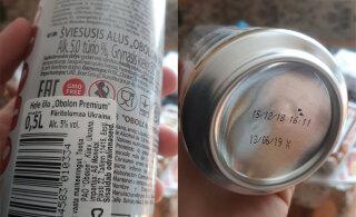 ФОТО: Нарвитянин приобрел в магазине Coop просроченное пиво. Срок годности истек месяц назад