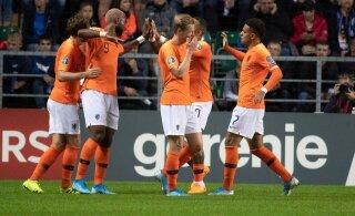 ФОТО: Голландцы классно отпраздновали первый гол в ворота Эстонии: теперь об этом говорит весь мир